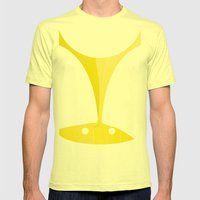 Silhouette Racers - Lamborghini Countach Mens Fitted Tee Lemon SMALL