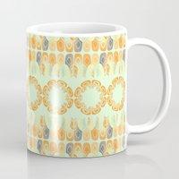 Ethnic Orange Pattern Mug