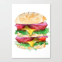 California Burger Canvas Print