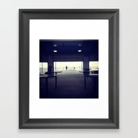North Ave Beach Silhouet… Framed Art Print