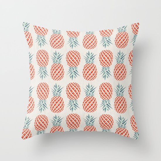 Pineapple Throw Pillow By Basilique Society6