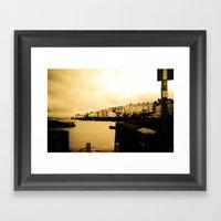 Sea Town Framed Art Print
