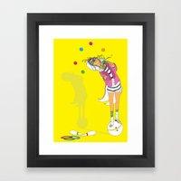 the performer Framed Art Print