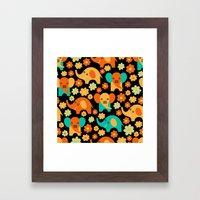 Stylized Elephant Childr… Framed Art Print