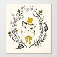 Fancy That, Top Hat Cat Canvas Print