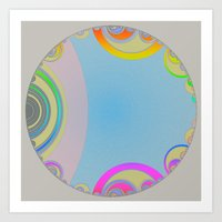 Graphic Bubble Art Print