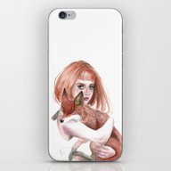 La Fille Et Le Renard iPhone & iPod Skin