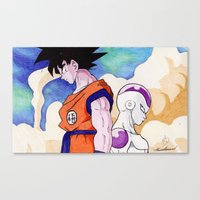 Goku Vs Frieza Ballpoint… Canvas Print