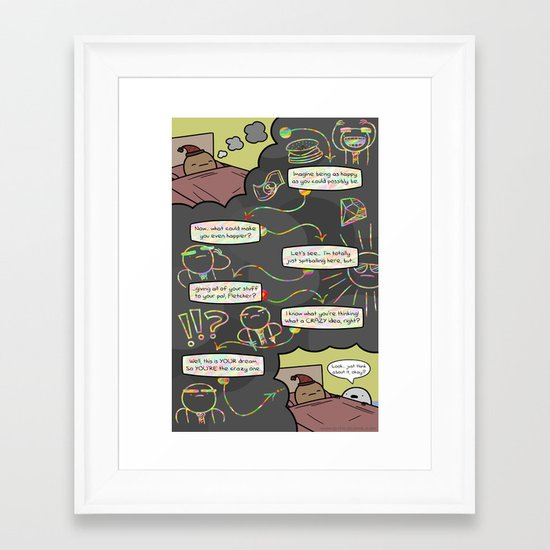 Antics #352 - wormtongue junior Framed Art Print