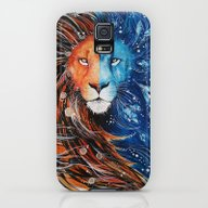 Fire And Ice Lion Galaxy S5 Slim Case