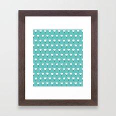 Spring Tulips - Blue Framed Art Print