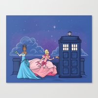 The Princess And The Doc… Canvas Print