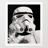 Galactic Empire Stormtrooper Art Print