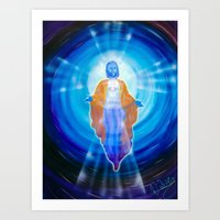 jesus Art Prints featuring Jesus by Walter Zettl