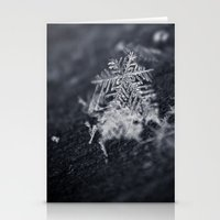 Macro Snowflakes 2 Stationery Cards