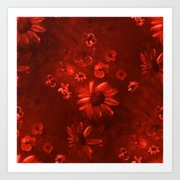 More Flowers In Just Red Art Print