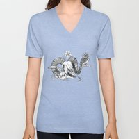 The ramskull and bird Unisex V-Neck