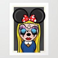 Mickey Girl Art Print