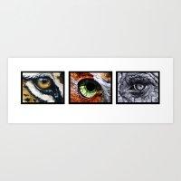 Three Eyes Art Print