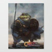 A knightly Frog  Canvas Print
