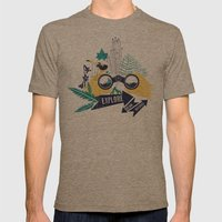 EXPLORE.DREAM.DISCOVER Mens Fitted Tee Tri-Coffee SMALL