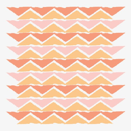 triangle sunset Art Print