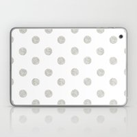 Grey Dots Laptop & iPad Skin