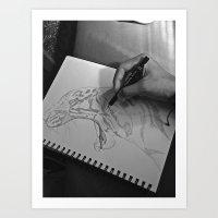 A Sketch Amongst Many Art Print