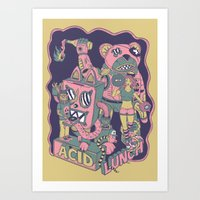 Acid Lunch Art Print
