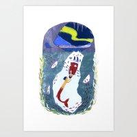 The Little Merman Art Print