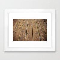 the wood Framed Art Print