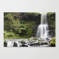Blaen-y-glyn Waterfall 1 Canvas Print