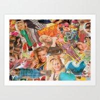 magazine collage Art Print