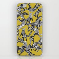 woodland fox party ochre yellow iPhone & iPod Skin