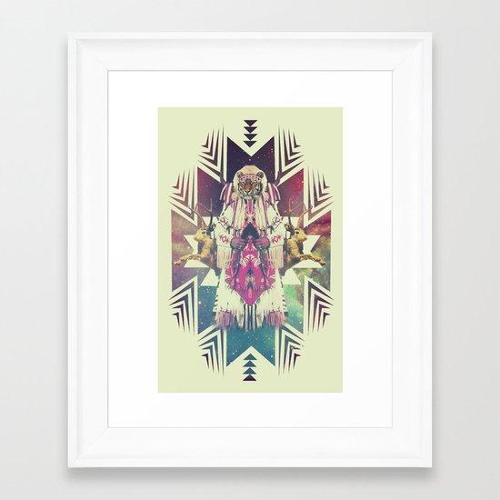 Tiger Chaman  Framed Art Print