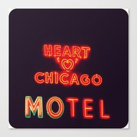 Heart 'O' Chicago Motel … Canvas Print