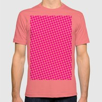 BIG PINK DOT Mens Fitted Tee Pomegranate SMALL