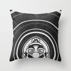 Super Trippin Bros. Mario is All Stars. Throw Pillow