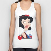 Snow White scared in the Haunted Forest Unisex Tank Top