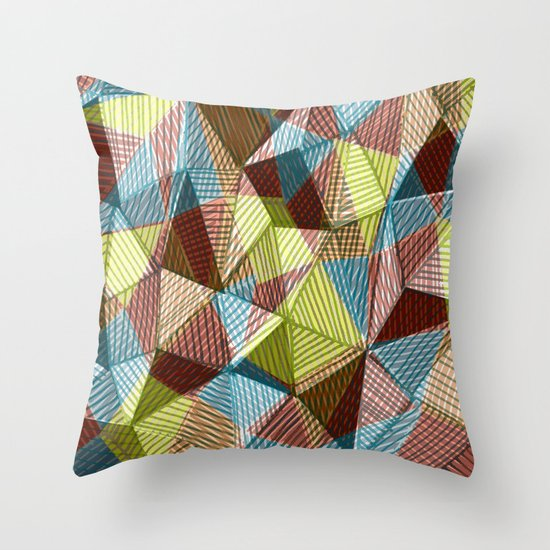Hand Drawn and Digital Pattern Print Throw Pillow