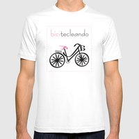 bicitecleando Mens Fitted Tee White SMALL
