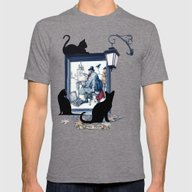 Anton Pieck's Studio Mens Fitted Tee Tri-Grey SMALL