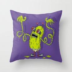 Snot Bot Throw Pillow