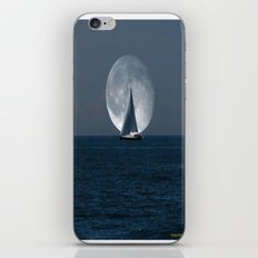 Sailing with a Romance Moon iPhone & iPod Skin