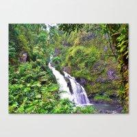 Hawaii - Waterfall II Canvas Print