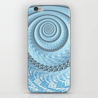 Spiral in Light Blue iPhone & iPod Skin