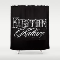 Kustom Kulture Sketch Shower Curtain