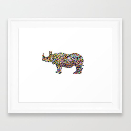 rhinocolor Framed Art Print