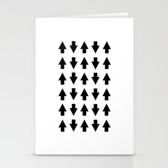 Arrows Black Stationery Card