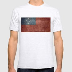 Samoan National Flag - V… Mens Fitted Tee Ash Grey SMALL